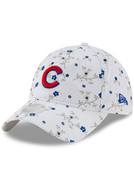 New Era Chicago Cubs Womens White Blossom 9TWENTY Adjustable Hat