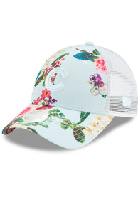 New Era Chicago Cubs Womens Light Blue Floral 9FORTY Adjustable Hat
