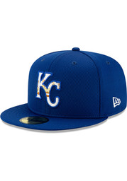 New Era Kansas City Royals Blue 2020 Batting Practice JR 59FIFTY Youth Fitted Hat