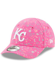 New Era Kansas City Royals Baby Pattern 9FORTY Adjustable Hat - Pink