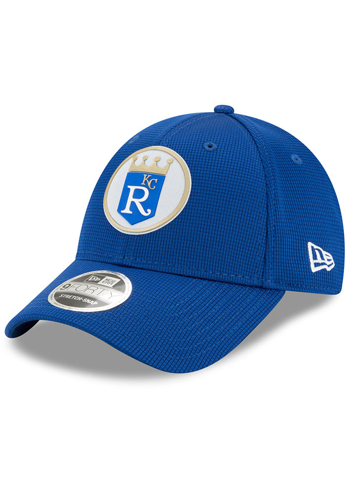 New Era Kansas City Royals 2020 Clubhouse Stretch 9FORTY Adjustable Hat - Blue