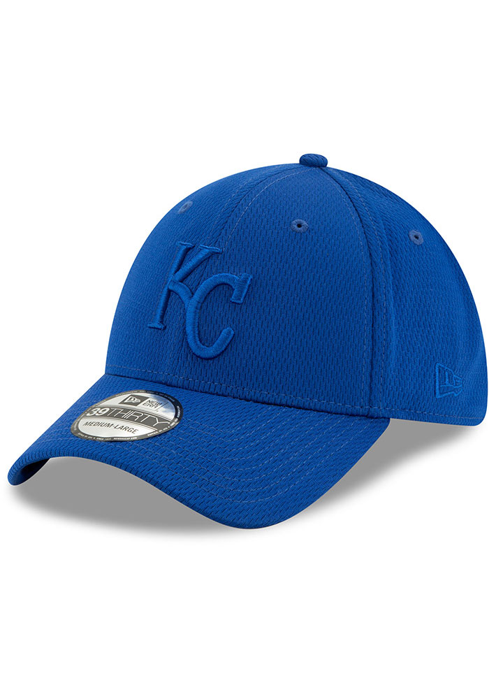 New Era Kansas City Royals Mens Blue Perf Tone 39THIRTY Flex Hat - Image 1
