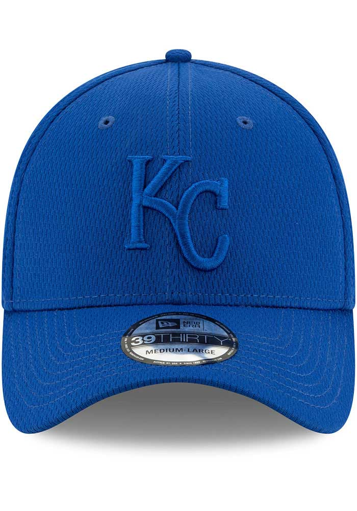 New Era Kansas City Royals Mens Blue Perf Tone 39THIRTY Flex Hat - Image 3