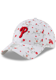 New Era Philadelphia Phillies White JR Blossom 9TWENTY Youth Adjustable Hat