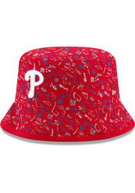 New Era Philadelphia Phillies Red Pattern Baby Sun Hat