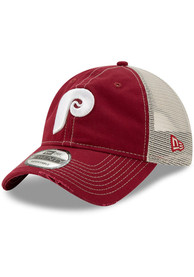 Philadelphia Phillies Toddler New Era JR Worn 9TWENTY Adjustable - Maroon