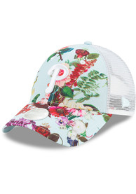 New Era Philadelphia Phillies Womens Light Blue Floral 9FORTY Adjustable Hat