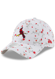 New Era St Louis Cardinals White JR Blossom 9TWENTY Youth Adjustable Hat