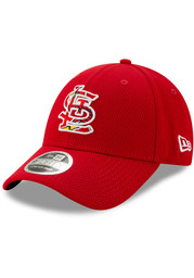 New Era St Louis Cardinals 2020 Batting Practice Stretch 9FORTY Adjustable Hat - Red