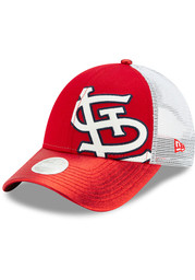 New Era St Louis Cardinals Womens Red Logo Glam 9FORTY Adjustable Hat
