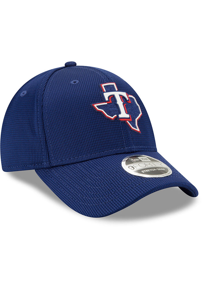New Era Texas Rangers 2020 Clubhouse Stretch 9FORTY Adjustable Hat - Blue - Image 2