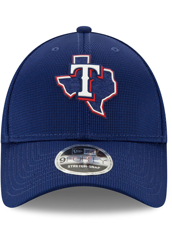 New Era Texas Rangers 2020 Clubhouse Stretch 9FORTY Adjustable Hat - Blue - Image 3