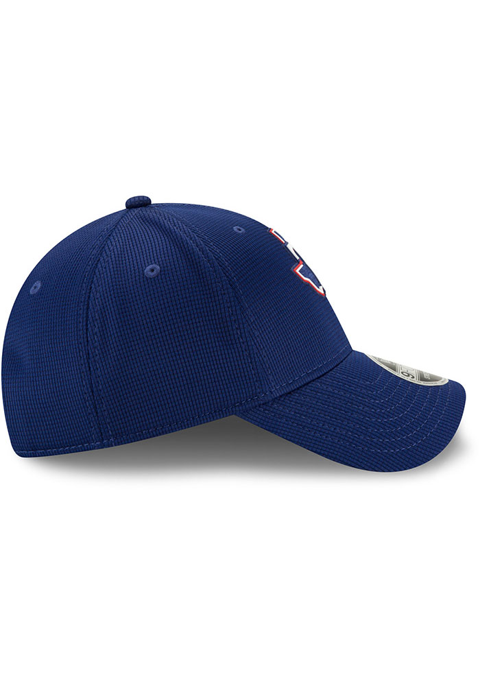 New Era Texas Rangers 2020 Clubhouse Stretch 9FORTY Adjustable Hat - Blue - Image 6