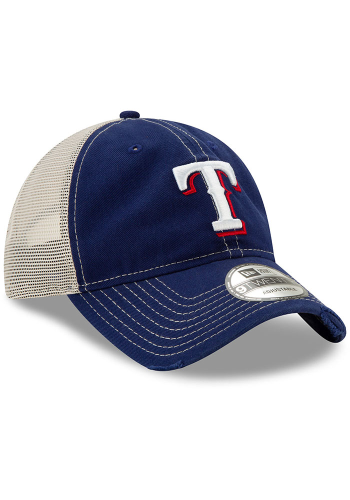 New Era Texas Rangers Worn 9TWENTY Adjustable Hat - Blue - Image 2