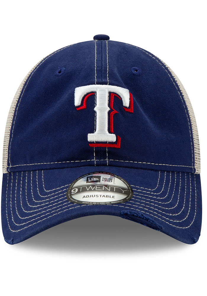 New Era Texas Rangers Worn 9TWENTY Adjustable Hat - Blue - Image 3