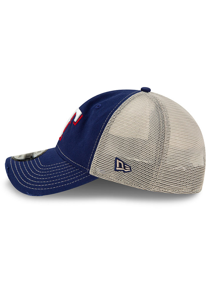 New Era Texas Rangers Worn 9TWENTY Adjustable Hat - Blue - Image 4