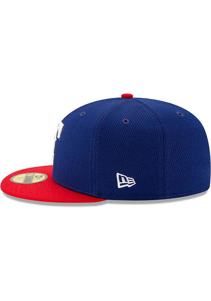 New Era Texas Rangers Mens Blue 2020 Batting Practice 59FIFTY Fitted Hat - Image 4