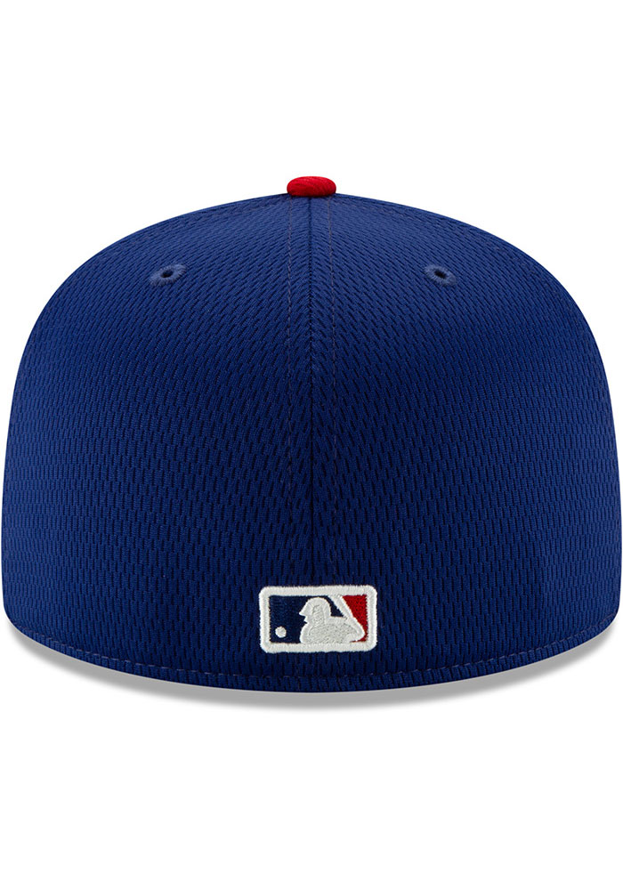 New Era Texas Rangers Mens Blue 2020 Batting Practice 59FIFTY Fitted Hat - Image 5