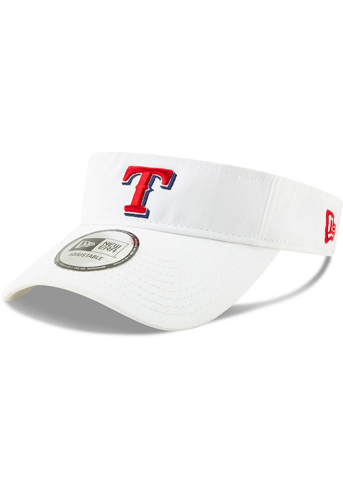 New Era Texas Rangers Mens White Dugout Redux 2 Adjustable Visor - Image 1