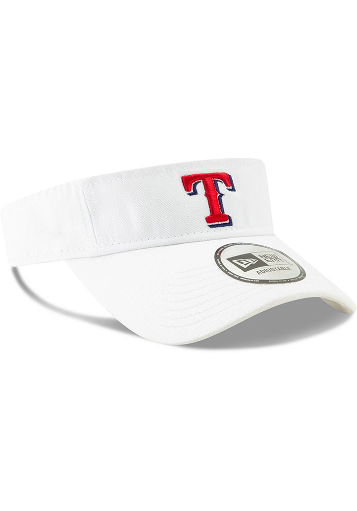 New Era Texas Rangers Mens White Dugout Redux 2 Adjustable Visor - Image 2