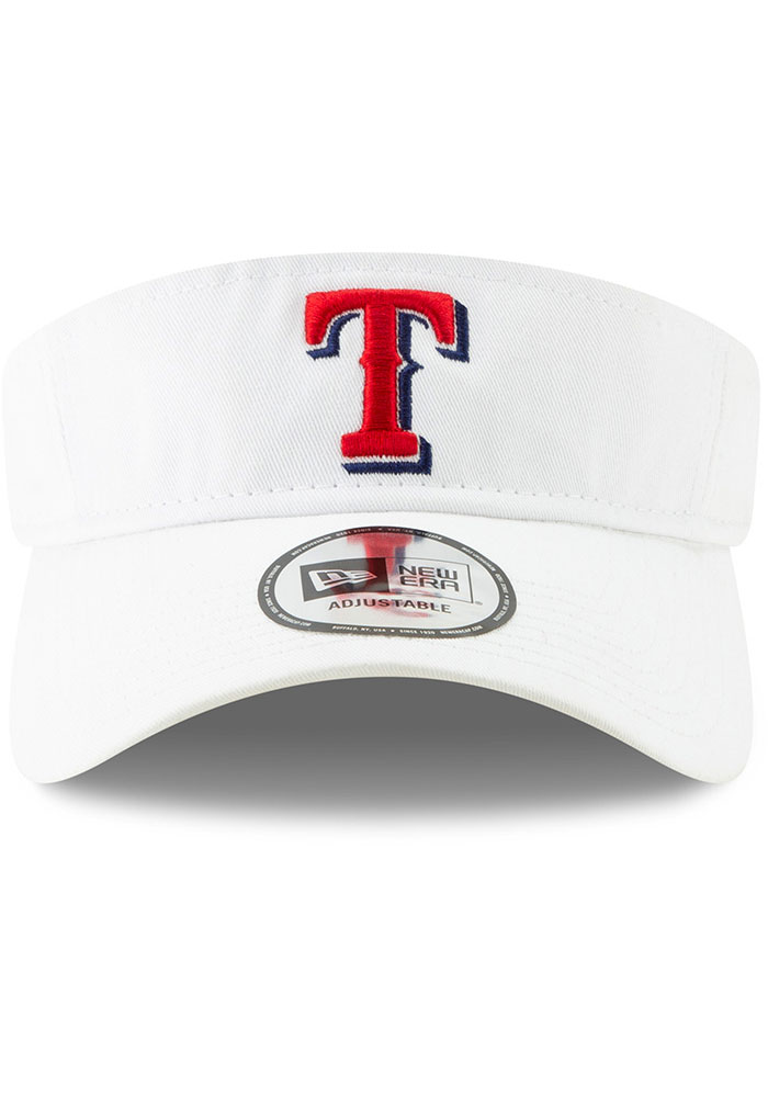 New Era Texas Rangers Mens White Dugout Redux 2 Adjustable Visor - Image 3
