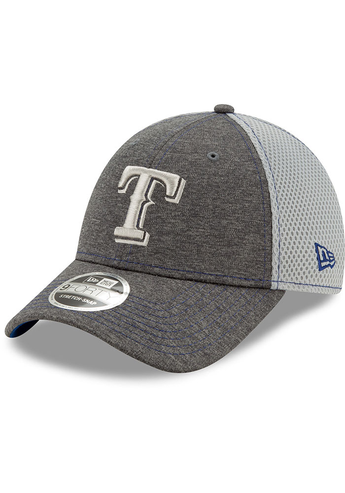 New Era Texas Rangers Grey JR STH Neo 9FORTY Adjustable Toddler Hat - Image 1