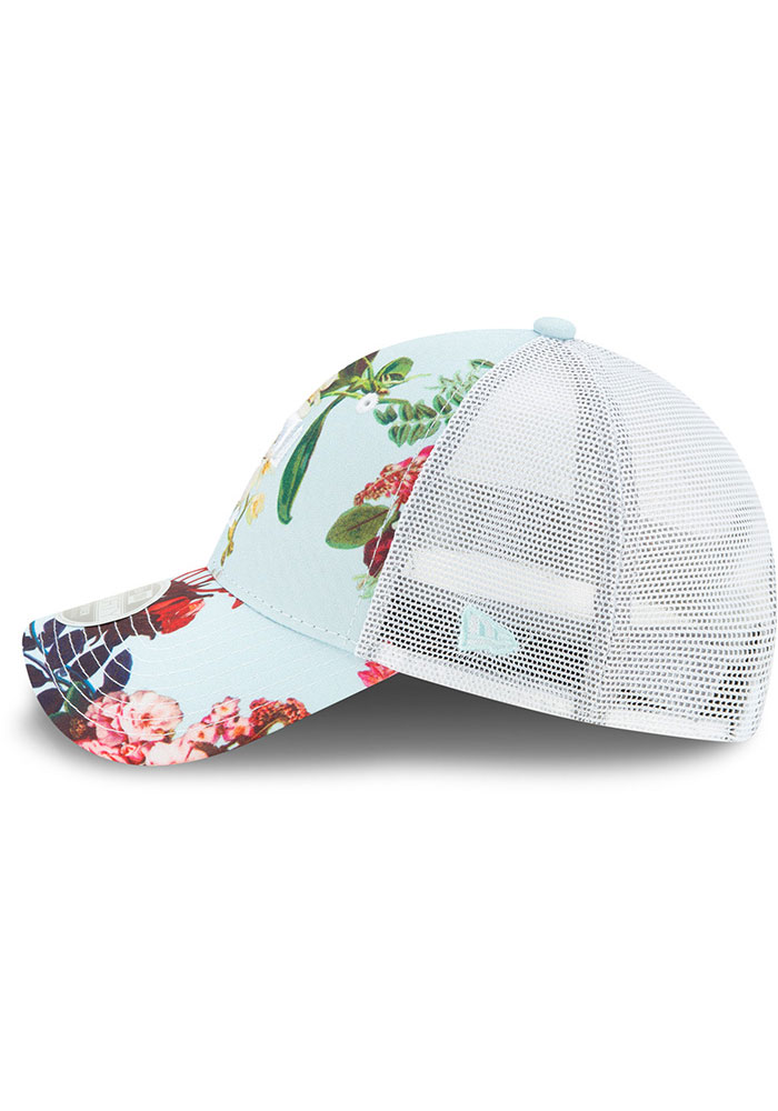 New Era Texas Rangers Light Blue Floral 9FORTY Womens Adjustable Hat - Image 4
