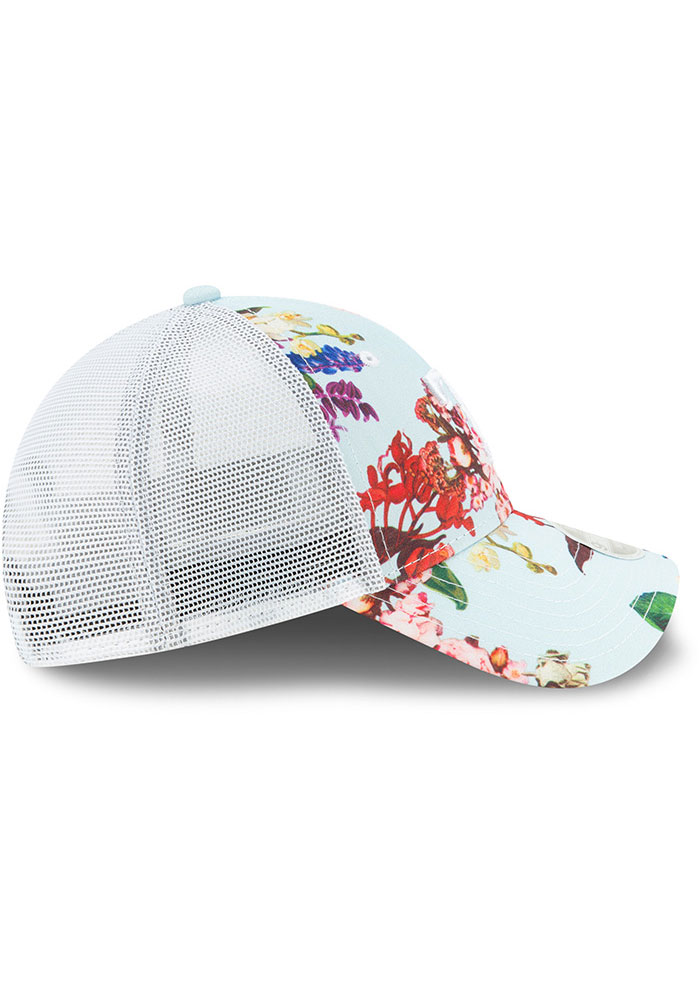 New Era Texas Rangers Light Blue Floral 9FORTY Womens Adjustable Hat - Image 6