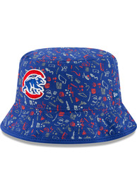 New Era Chicago Cubs Blue Pattern Baby Sun Hat