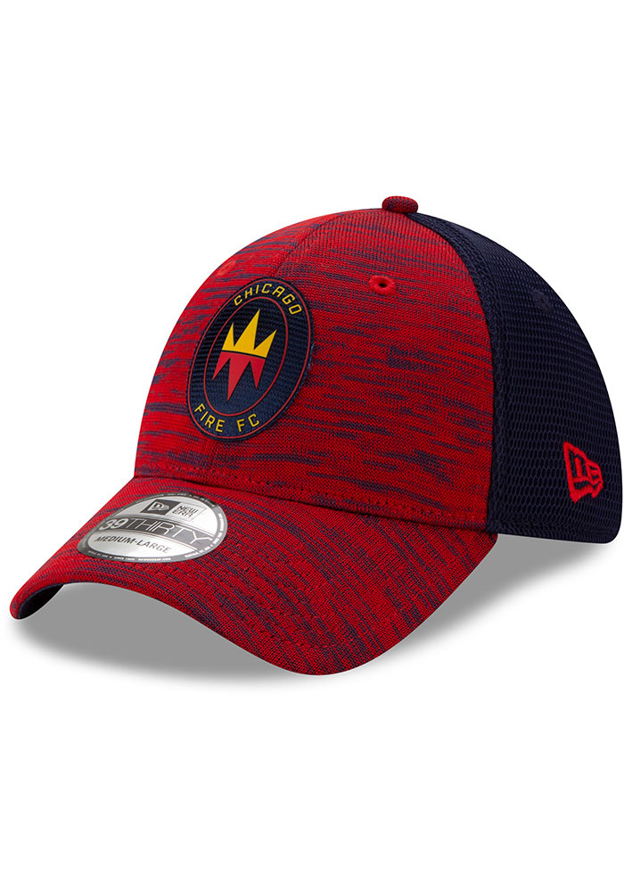New Era Chicago Fire Mens Red 2020 Official 39THIRTY Flex Hat - Image 1