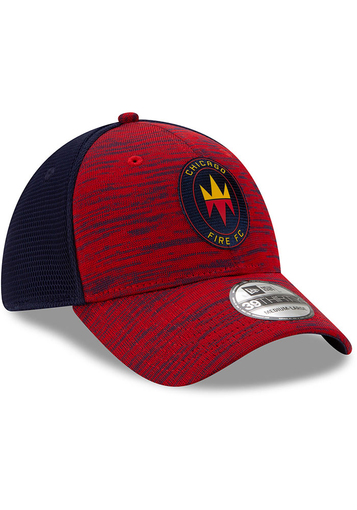 New Era Chicago Fire Mens Red 2020 Official 39THIRTY Flex Hat - Image 2