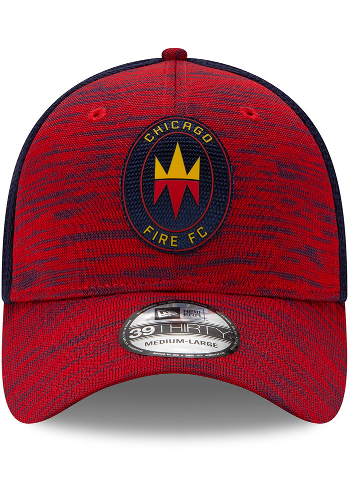 New Era Chicago Fire Mens Red 2020 Official 39THIRTY Flex Hat - Image 3