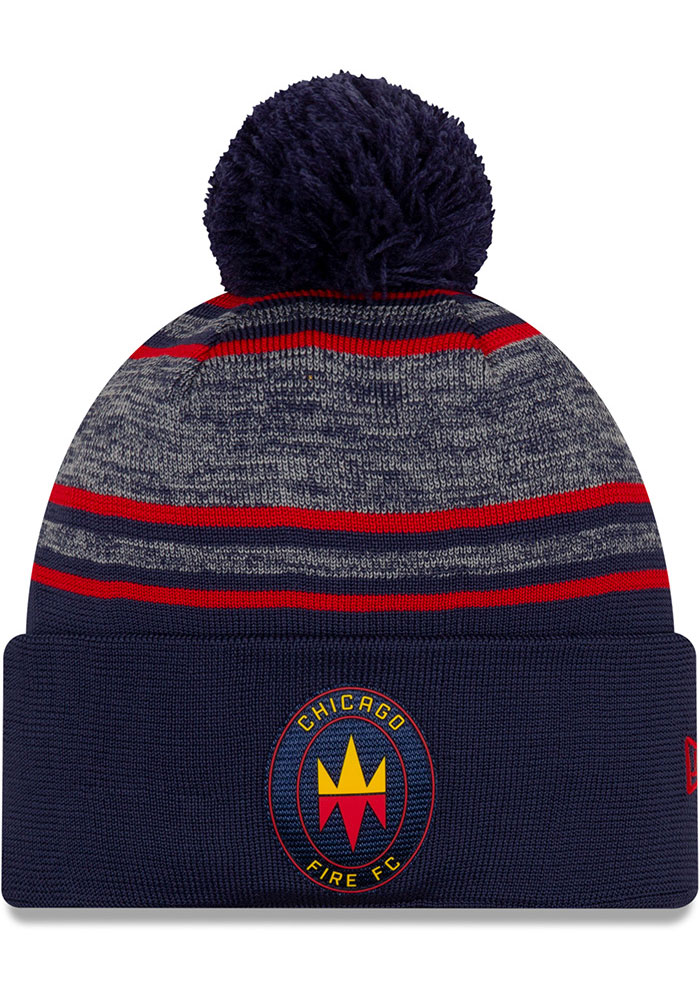 New Era Chicago Fire Navy Blue 2020 Official Cuff Mens Knit Hat - Image 1