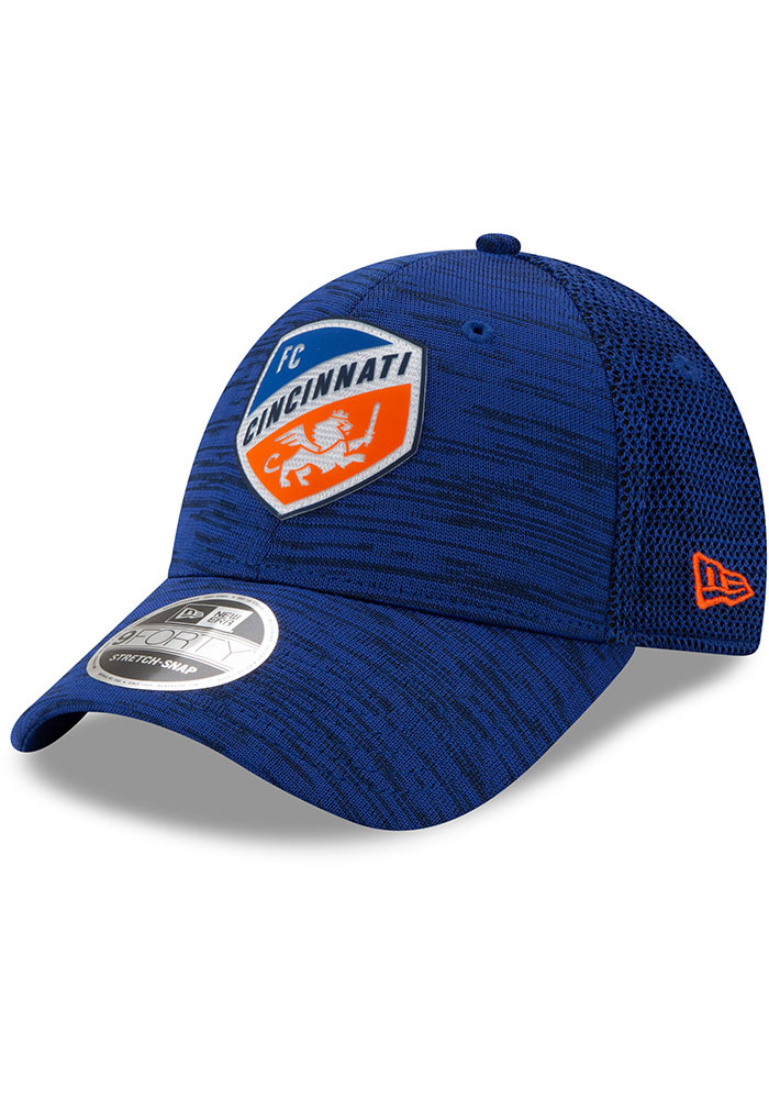 New Era FC Cincinnati 2020 Official Stretch 9FORTY Adjustable Hat - Blue - Image 1