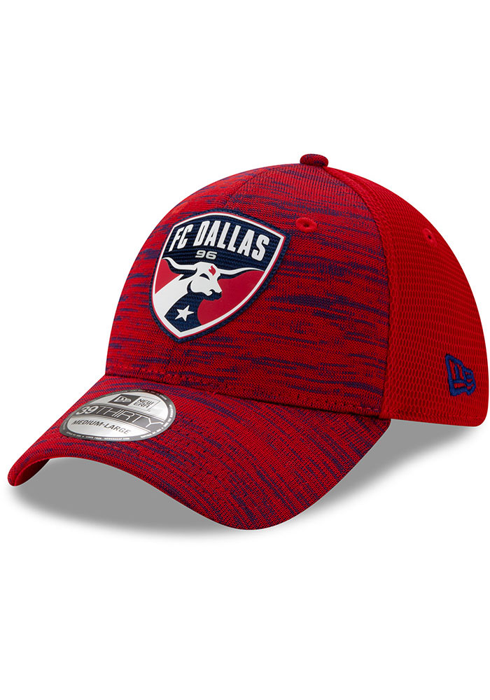 New Era FC Dallas Mens Red 2020 Official 39THIRTY Flex Hat - Image 1