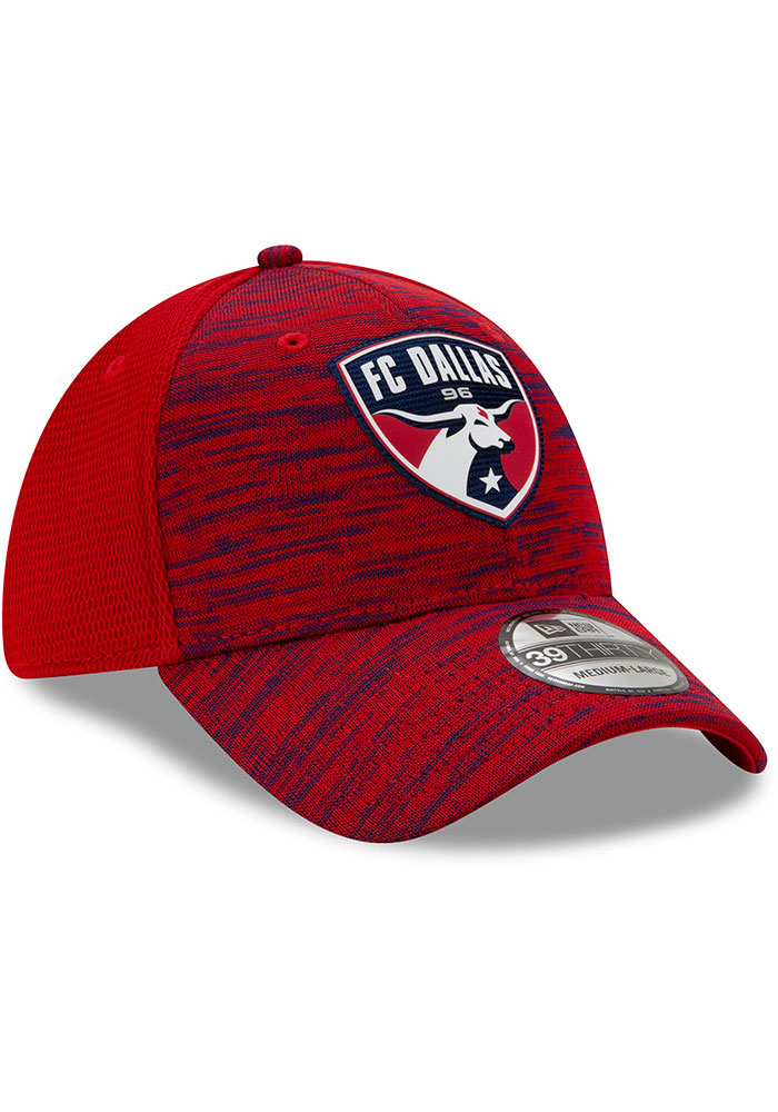 New Era FC Dallas Mens Red 2020 Official 39THIRTY Flex Hat - Image 2