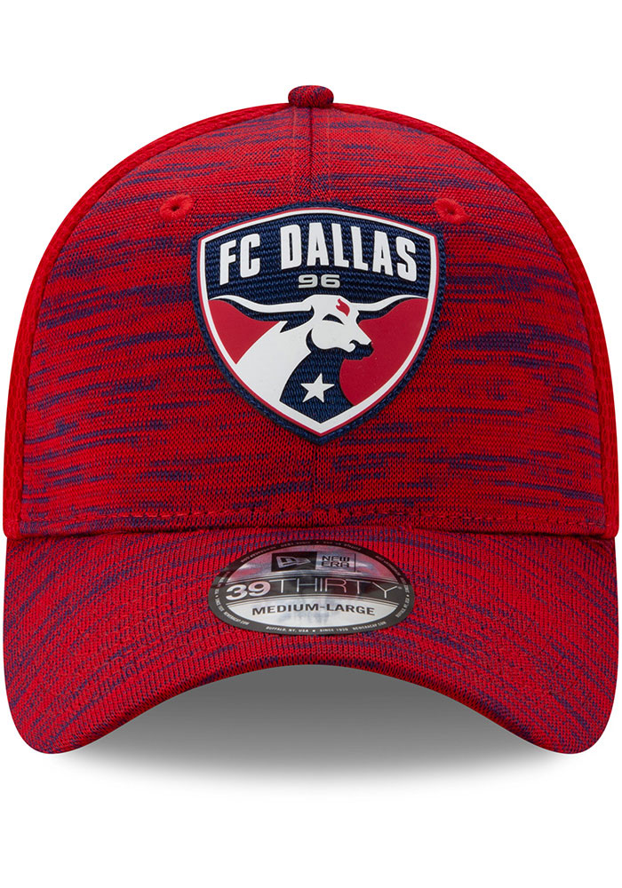 New Era FC Dallas Mens Red 2020 Official 39THIRTY Flex Hat - Image 3