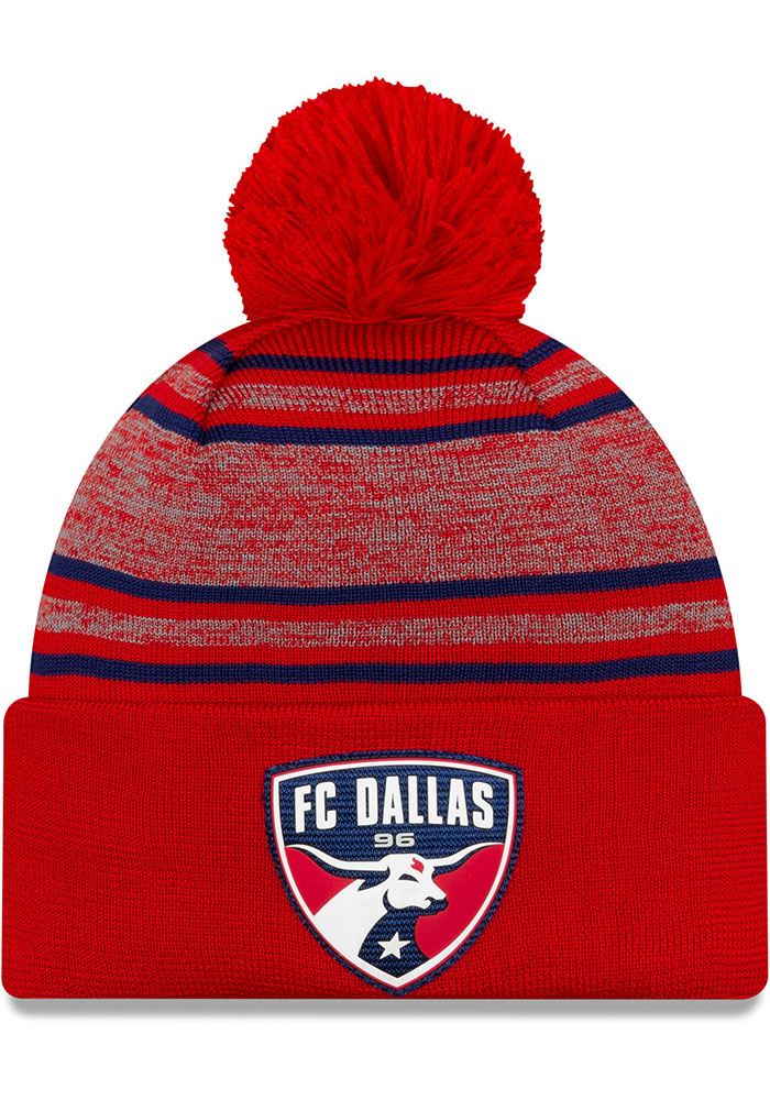 New Era FC Dallas Red 2020 Official Cuff Mens Knit Hat - Image 1