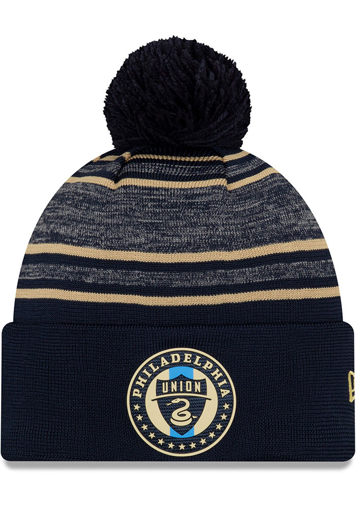 New Era Philadelphia Union Navy Blue 2020 Official Cuff Mens Knit Hat - Image 1