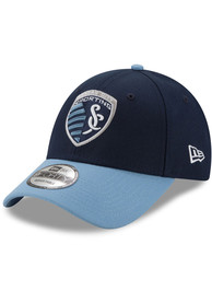 New Era Sporting Kansas City Navy Blue JR The League 9FORTY Youth Adjustable Hat