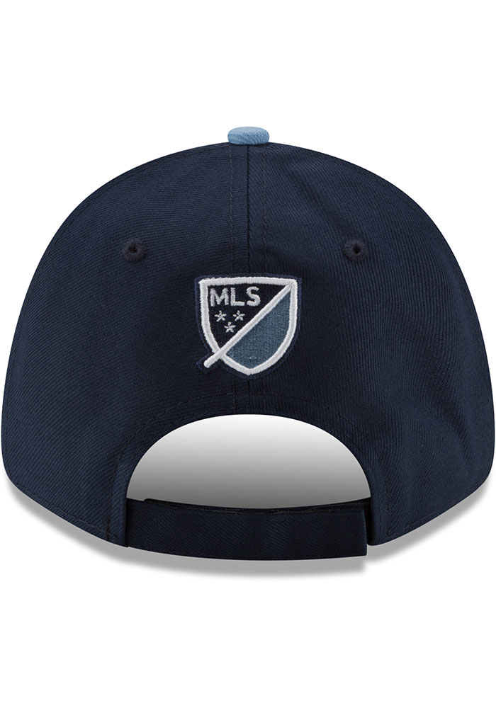 New Era Sporting Kansas City Navy Blue JR The League 9FORTY Youth Adjustable Hat - Image 2