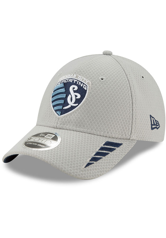 New Era Sporting Kansas City Grey JR Rush 9FORTY Youth Adjustable Hat - Image 1