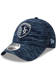 New Era Sporting Kansas City 2020 Official Stretch 9FORTY Adjustable Hat - Navy Blue