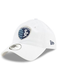 New Era Sporting Kansas City Casual Classic Adjustable Hat - White