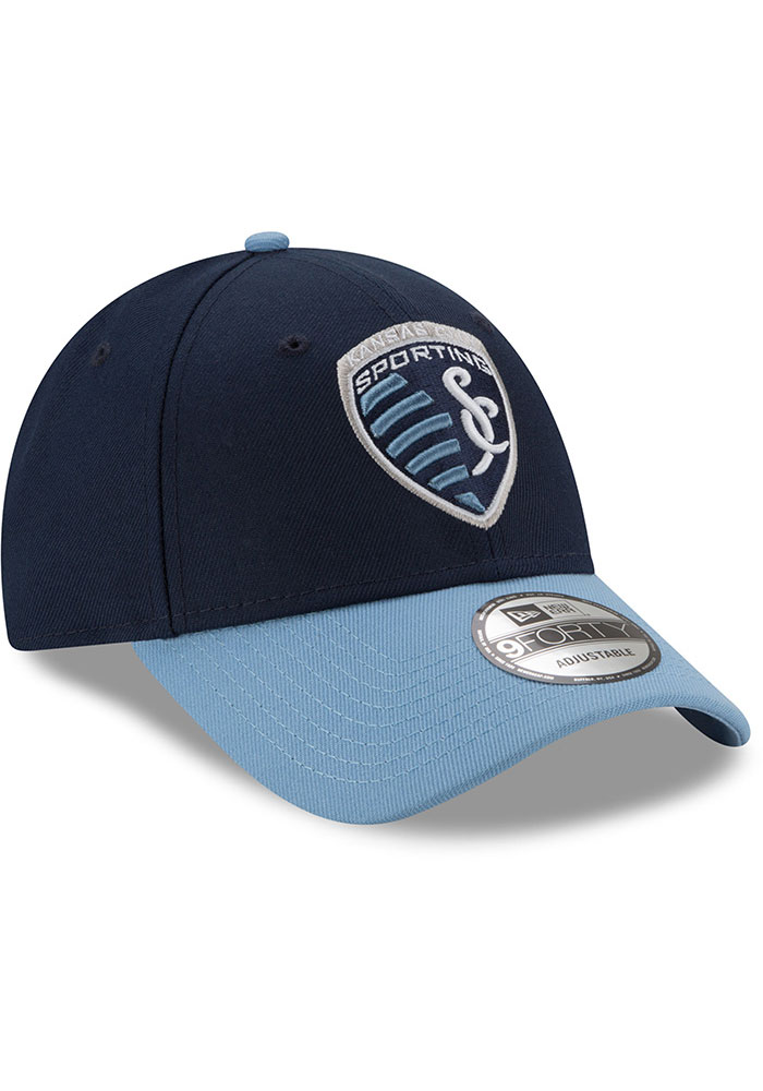 New Era Sporting Kansas City The League 9FORTY Adjustable Hat - Navy Blue - Image 2