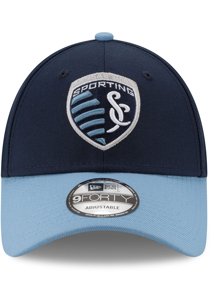 New Era Sporting Kansas City The League 9FORTY Adjustable Hat - Navy Blue - Image 3