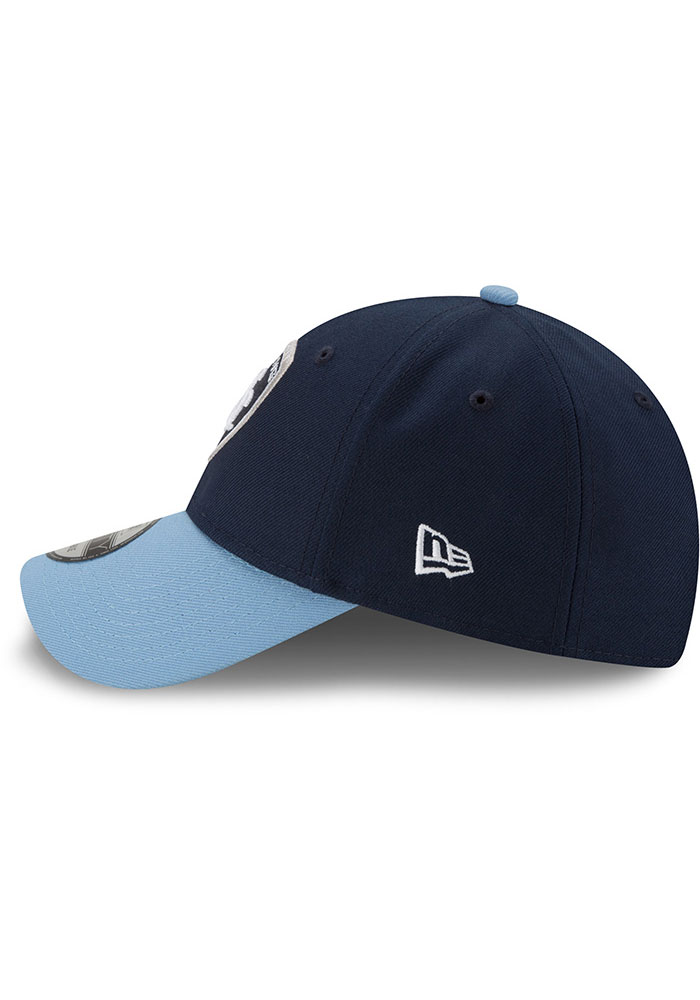 New Era Sporting Kansas City The League 9FORTY Adjustable Hat - Navy Blue - Image 4