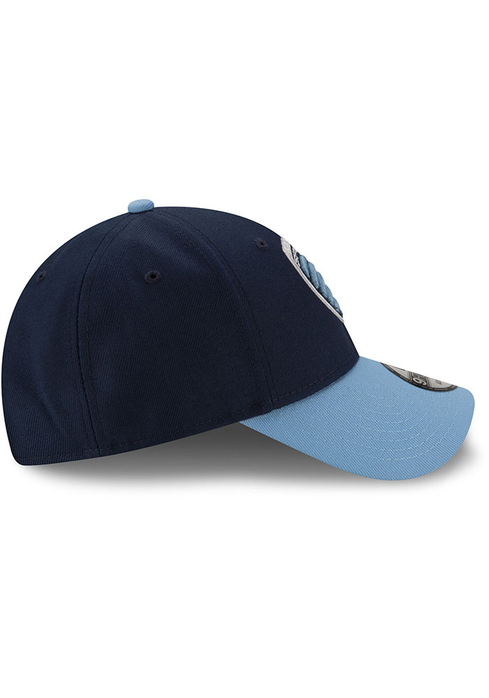 New Era Sporting Kansas City The League 9FORTY Adjustable Hat - Navy Blue - Image 6