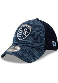 Sporting Kansas City New Era 2020 Official 39THIRTY Flex Hat - Navy Blue