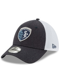 New Era Sporting Kansas City Navy Blue Heather Front Neo 39THIRTY Flex Hat